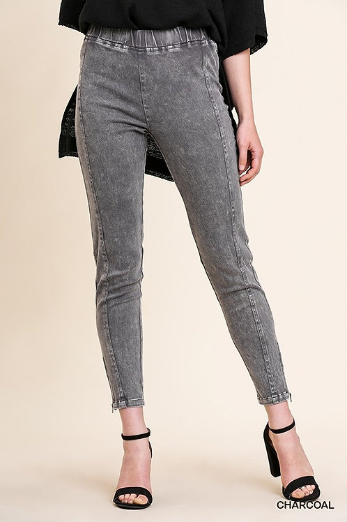 Umgee Mineral Washed High Waist Stretch Leggings