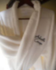 Robes in every vacation rental cabin in Asheville NC