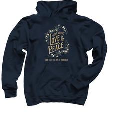 Spreading Love & Peace Navy Hoodie