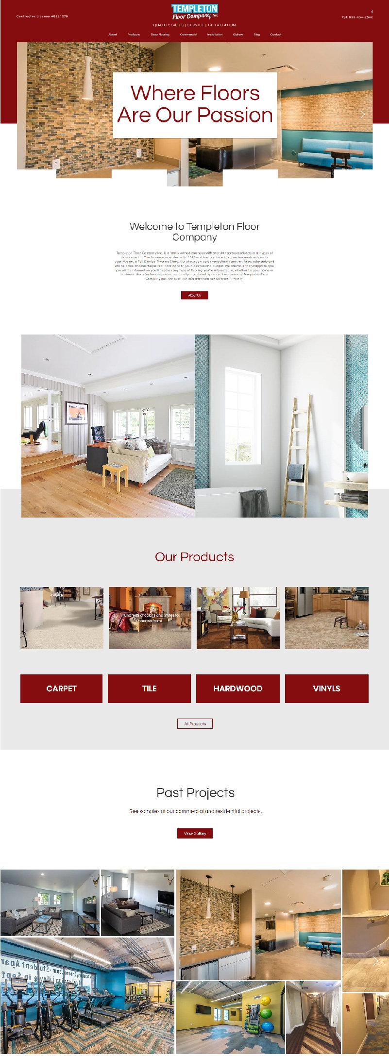 wix web design atlanta pixlrabbit, flooring company website