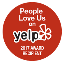 About Thyme Catering love us on yelp 2017 award