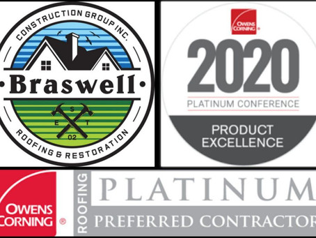 Owens Corning Platinum Award