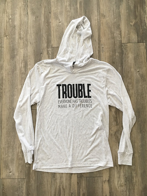 Trouble Clothes Long-Sleeved, Hooded Shirt