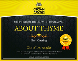 Crown in Town Award About Thyme