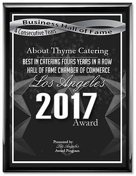 About Thyme Best Caterer Hall of Fame Los Angeles
