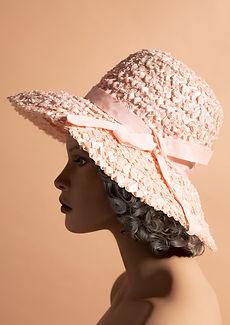 Great Grandma Zita's Vintage straw hat portrait