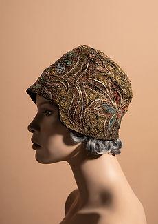 Great Grandma Zita's Vintage Cloche hat portrait