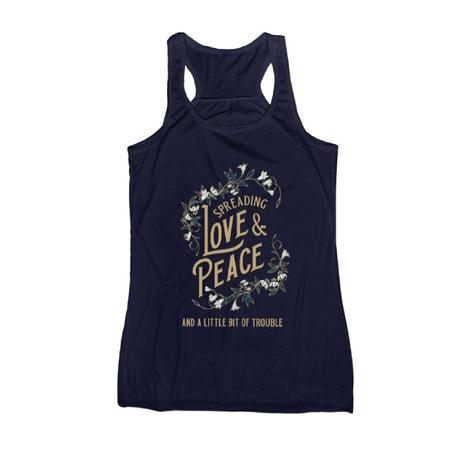 Spreading love & peace tank navy