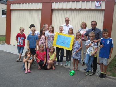 PP Bausysteme sponsert neue Gerätehalle für die Grundschule in Mönchberg
