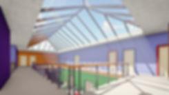 New school interior atrium
