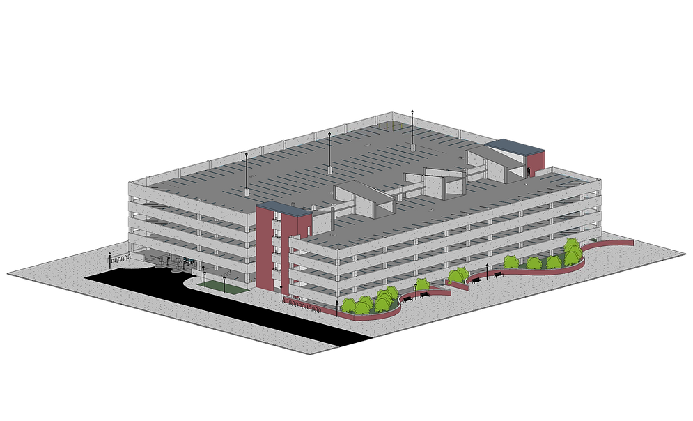 Parking Garage - Northwest (0083) Render
