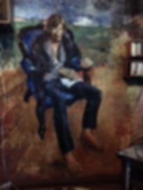 Портрет Антонова на стене собственной квартиры. Художник Мартиров-Младший 1975 г