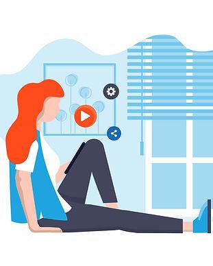Flat Modern design Illustration of Stay
