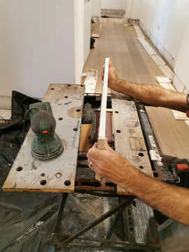 Custom reshaping each of skirting board pieces