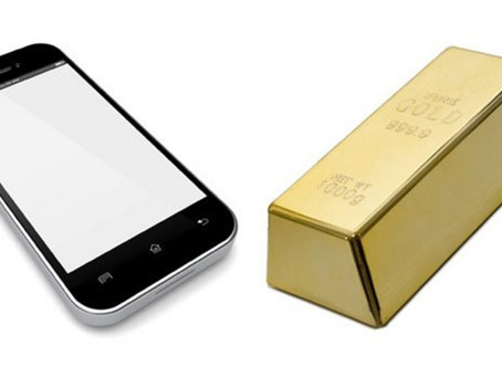 How much gold can we get from Mobile phones?