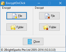 EncryptOnClick – FREE Military Grade File Encryption Software!