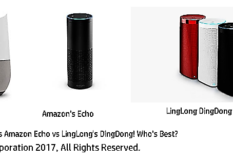 Google Home vs Amazon Echo vs LingLong's DingDong hits Chinese customers. Who's Best???
