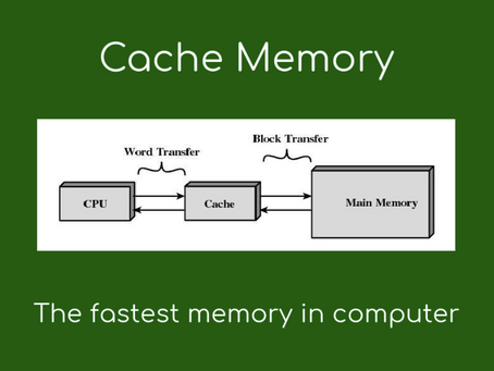 What is Cache memory?Android and iOS?