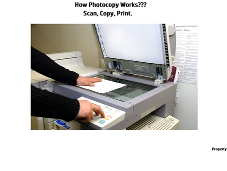How Photocopy Works?