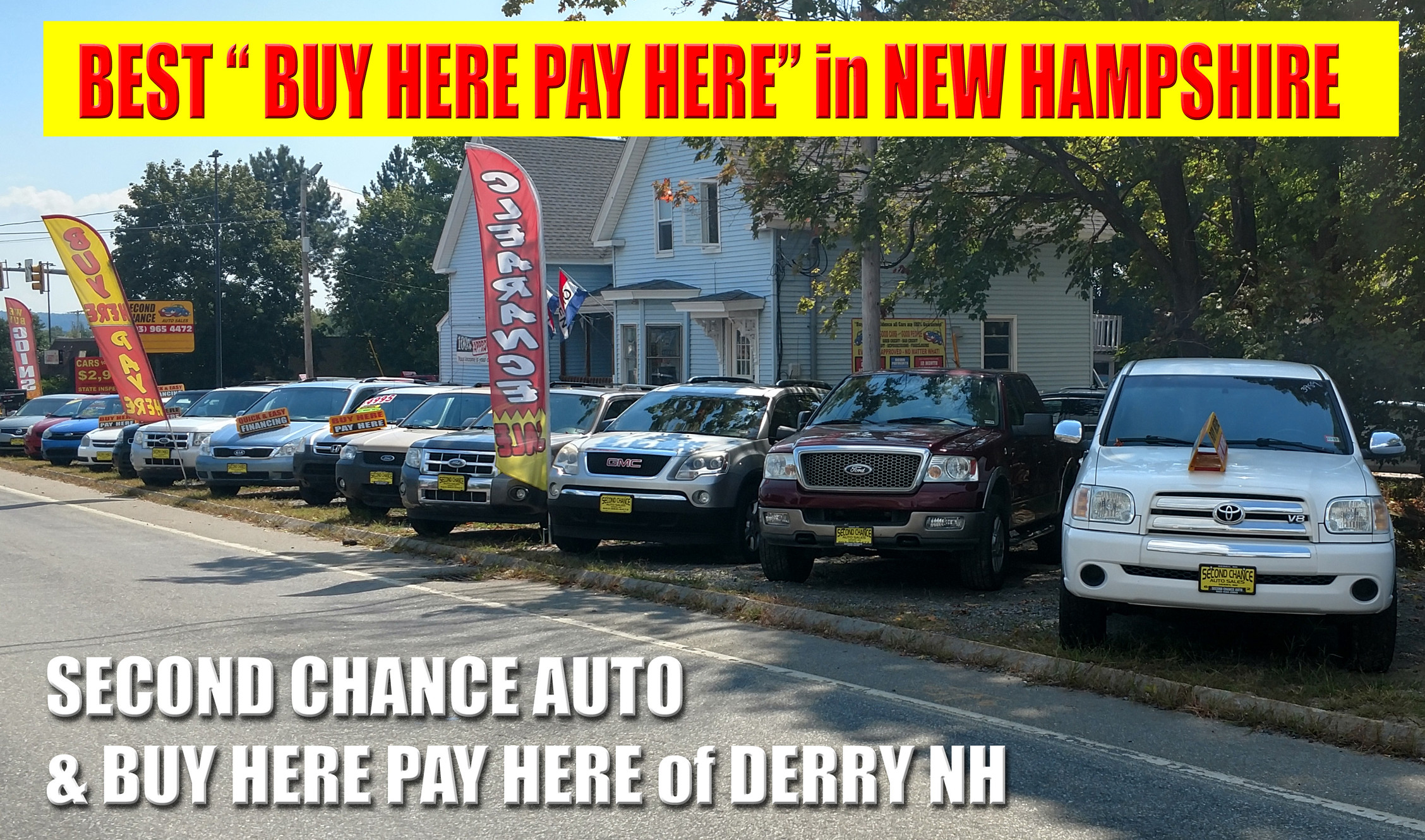 Buy Here Pay Here Nh >> Home Second Chance Auto Of Derry Nh