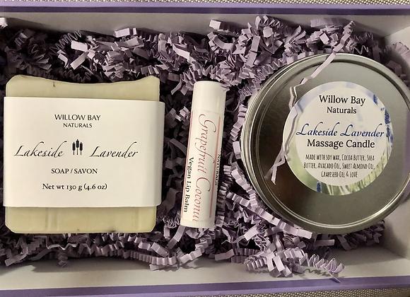 Gift Sets: Soap. Candle  Lip Balm