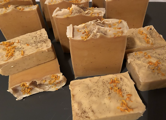 Spicy Orange Beer Soap Turmeric and cloves
