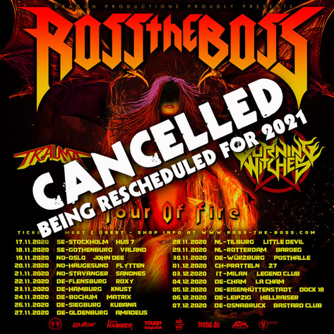 European Tour Reschedule