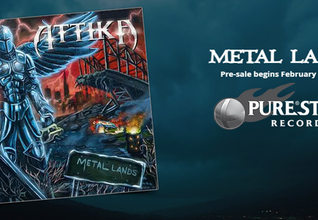 "ATTIKA RELEASES OFFICIAL LYRIC VIDEO - ""METAL LANDS"""