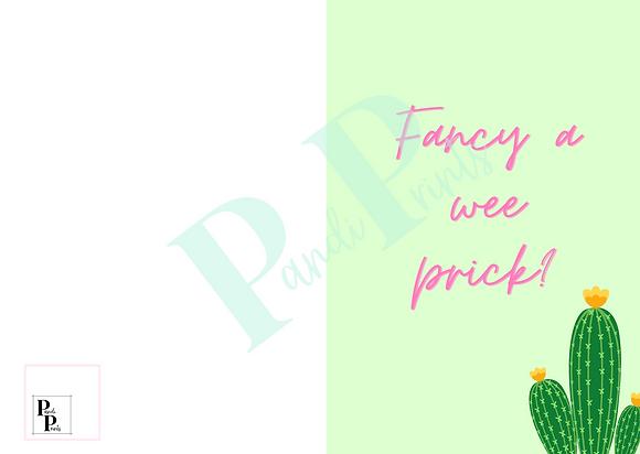 Fancy a wee prick?