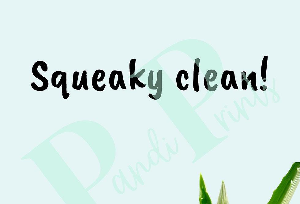 Squeaky Clean!