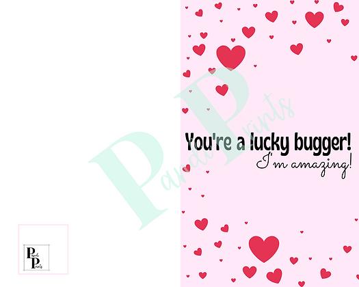 You're a lucky bugger!