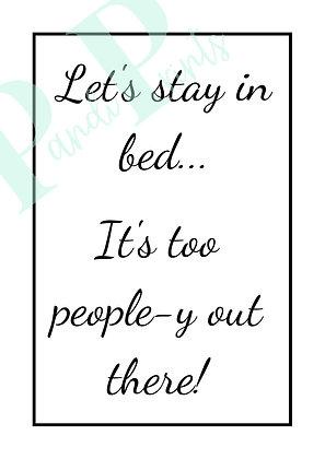 Too people-y!