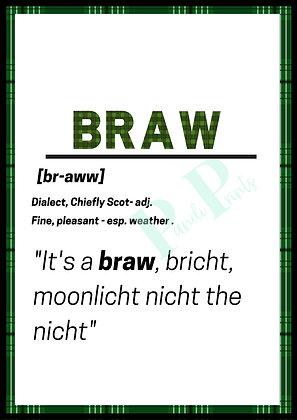Braw Definition
