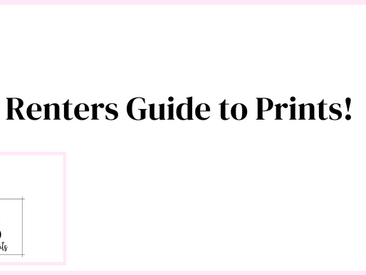 Renters Guide To Decorating with Prints