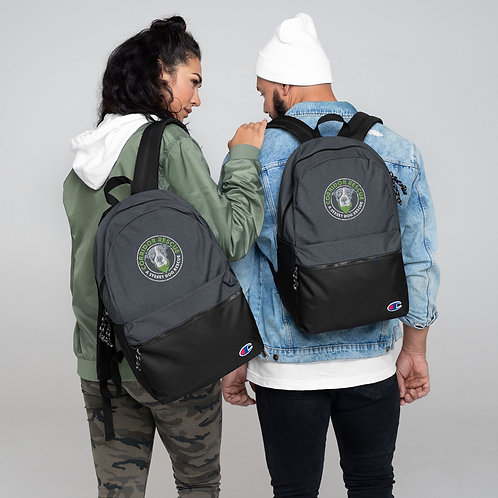 Embroidered Corridor Logo Champion Backpack