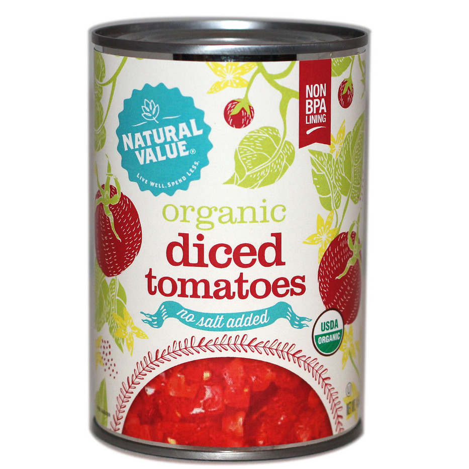NV Organic Diced Tomatoes, No Salt-front