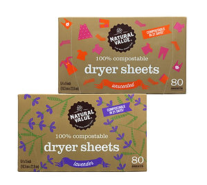 Natural Value Dryer Sheets