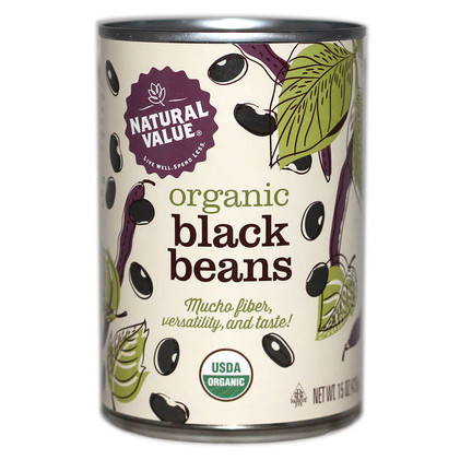 Natural Value Organic Black Beans - Front