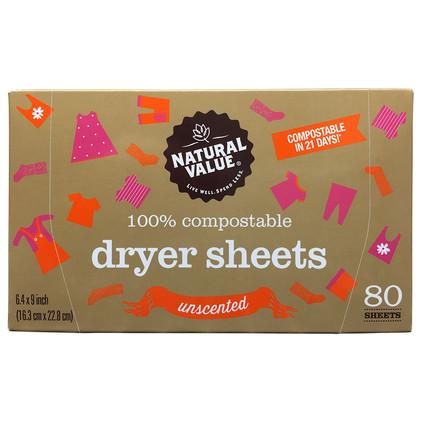 NV Dryer Sheets - Unscented