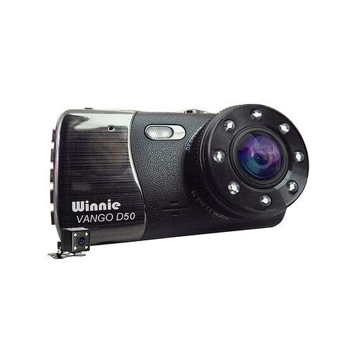 VANGO VANGO กล้องติดรถยนต์ รุ่น VANGO D50 สำหรับบันทึกการเดินทางในรถยนต์ สีดำ