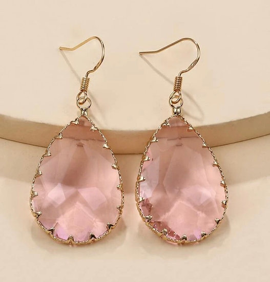 Rose Water Teardrop Earrings