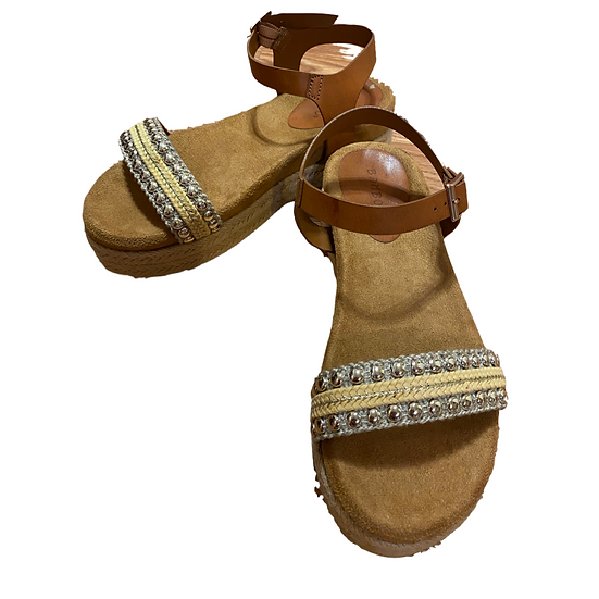 Studded Bamboo Sandals