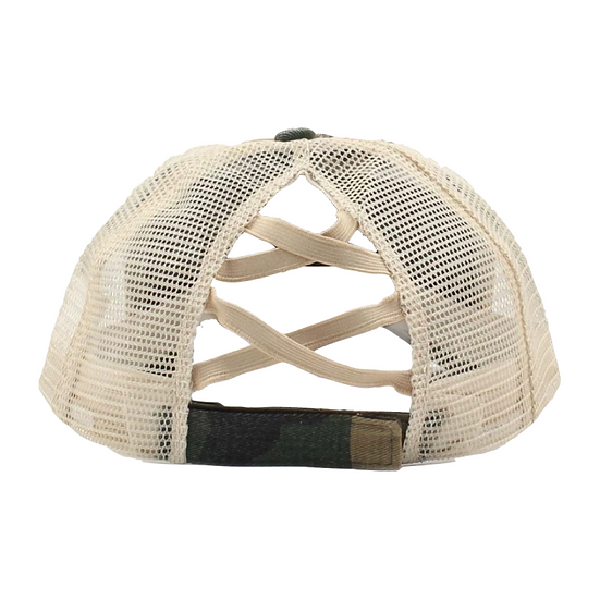 Camo Criss Cross Hat
