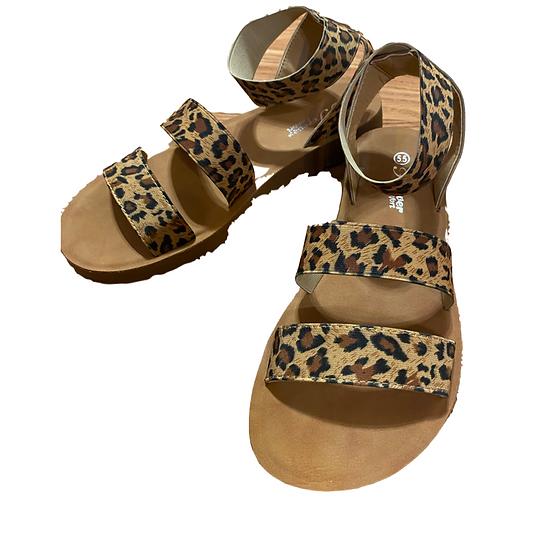 Belimisa Leopard Sandals