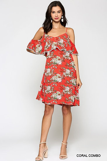 Nita Floral off the Shoulder Dress