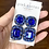 Thumbnail: Sapphire Rhinestone Earrings