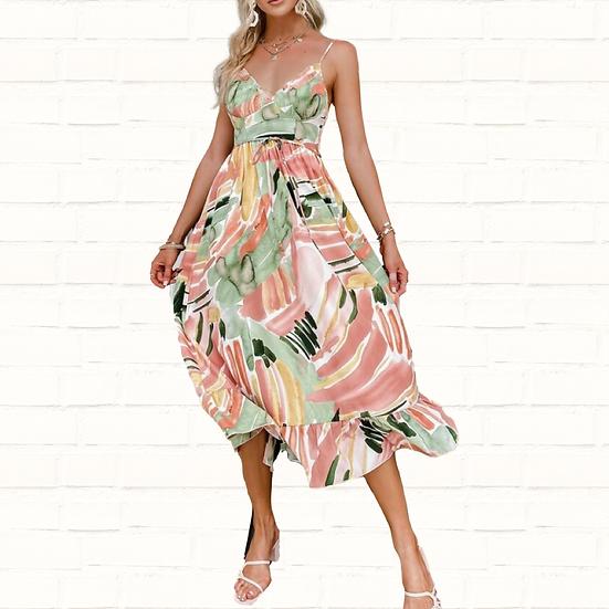 Anna Floral Print Dress