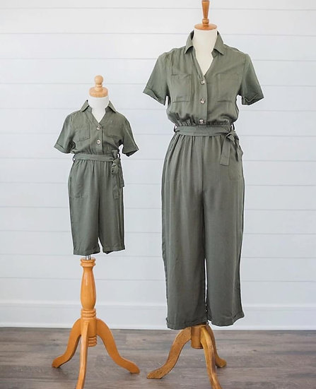 Lindie Forest Green Jumpsuit