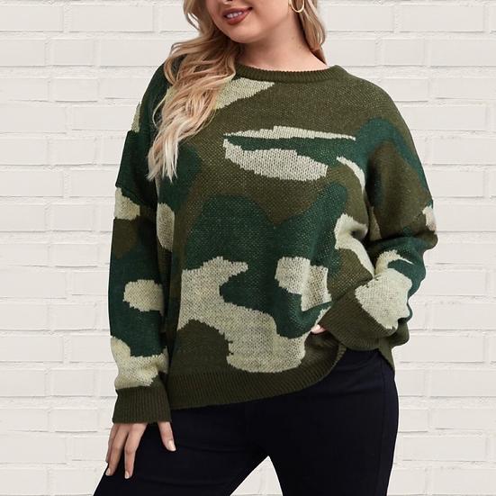 Clara Camo Sweater