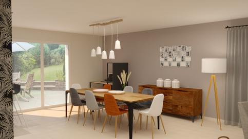 Visuel 3d- Salon/séjour d'une maison